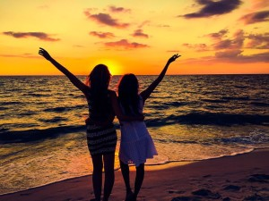 sunset in naples beach florida