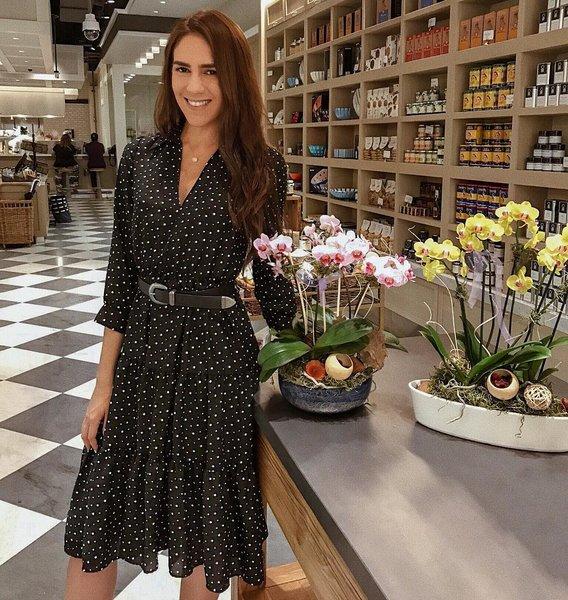 black dress, casa tua, zara, orchids