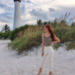 key biscayne lighthouse, influencer, miami, hadasahlove,